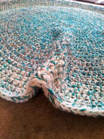 Learn How To Crochet A Round Rag Rug ⋆ Look At What I Made Enchanting Crochet Rag Rug Patterns
