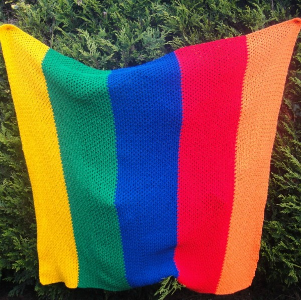 Free Crochet Pattern Rainbow Blanket : Crochet Rainbow Blanket ? Look At What I Made