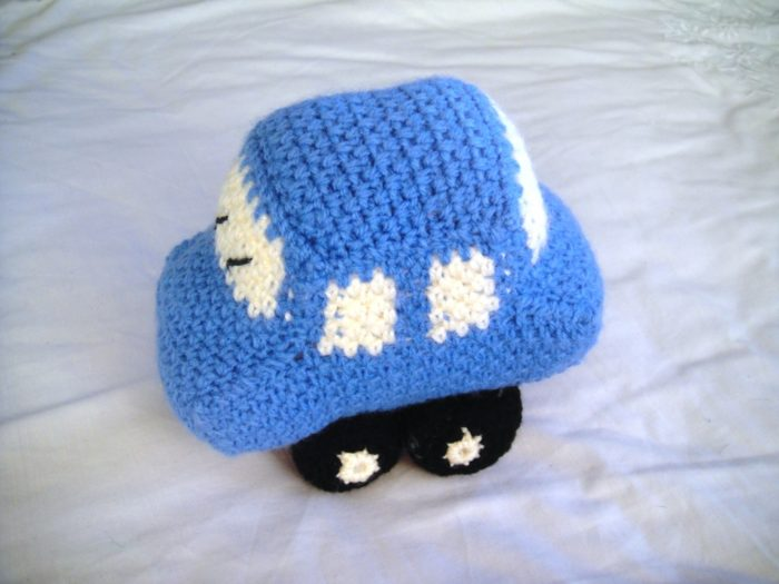 Free Crochet Patterns For Your Car : Little Blue Crochet Car ? Look At What I Made
