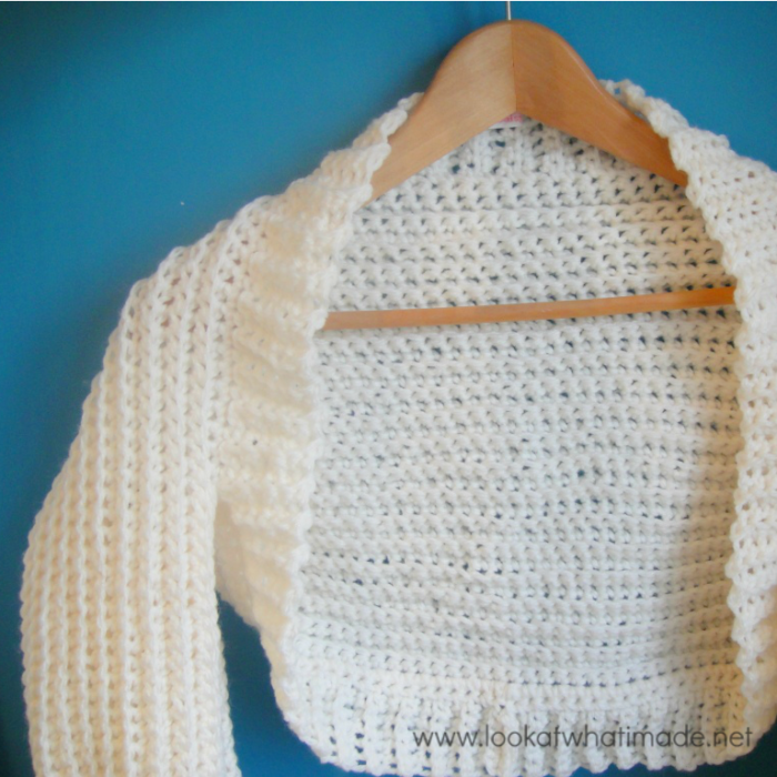 Cream Crochet Shrug Pattern Look At What I Made