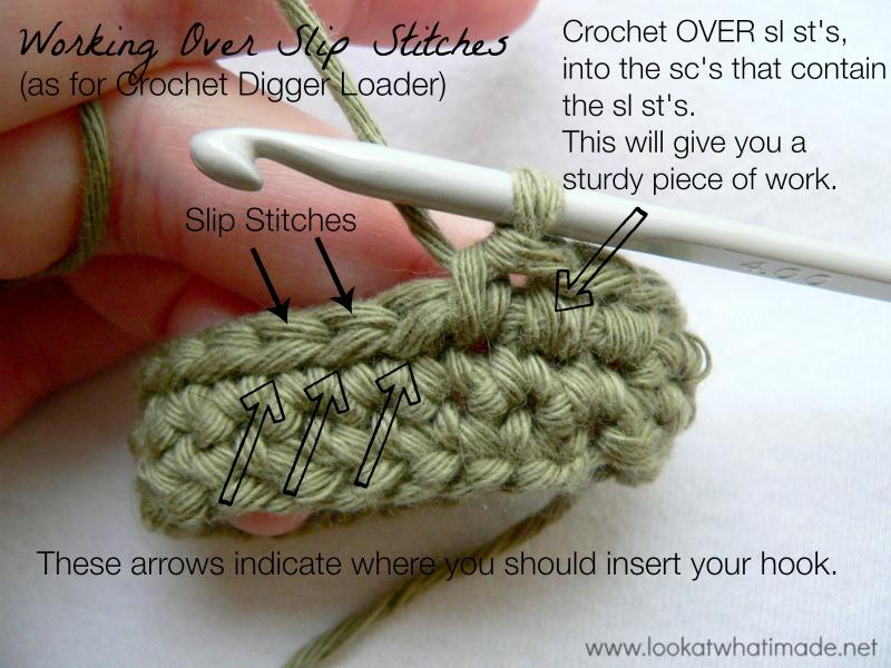 Crochet Digger Loader Pattern