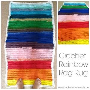 Crochet Rainbow Rag Rug