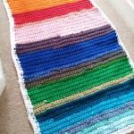 Rainbow Crochet Rag Rug (7)