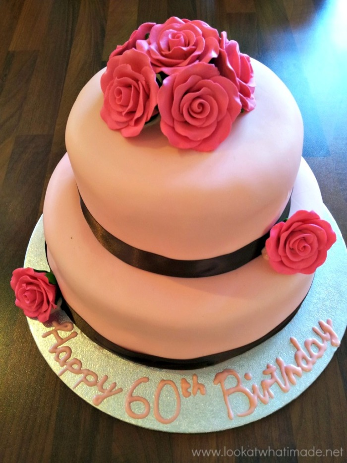 Two Tier Pink Birthday Cake