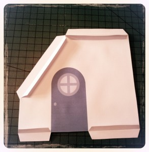 Blue Paper Dollhouse