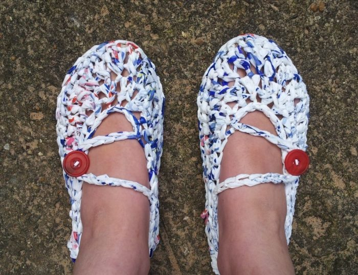 Plarn Crochet Slippers