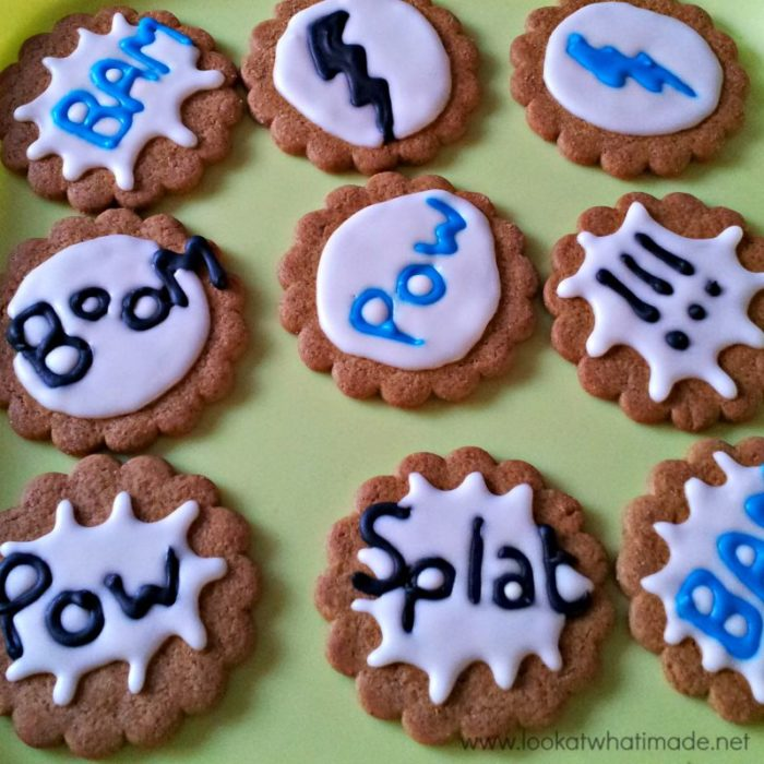 DIY Superhero Pop Art Cookies