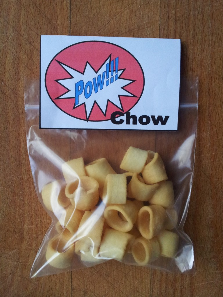 Pow Chow Printable Snack Label 2 768x1024 DIY Superhero Pop Art Party:  Fun and Frugal Ideas