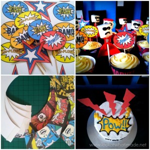 DIY Superhero Pop Art Party:  Fun and Frugal Ideas
