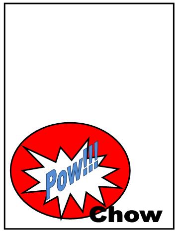 Superhero Pop Art Snack Labels 1