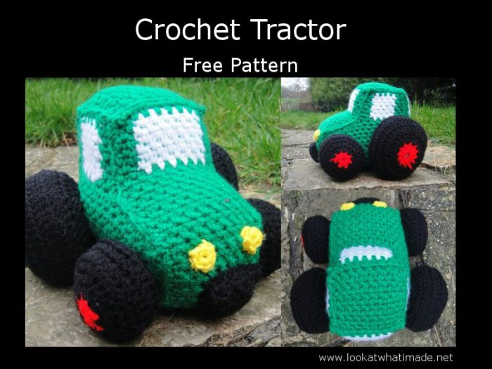 Free pattern for a Crochet Tractor by Dedri Uys