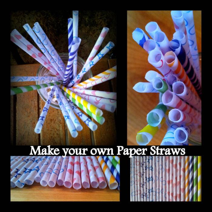 DIY Paper Drinking Straws