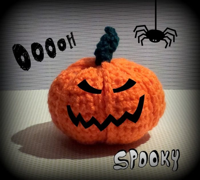 Spooky Crochet Pumpkin Segment Ball Crochet Pumpkin Segment Ball