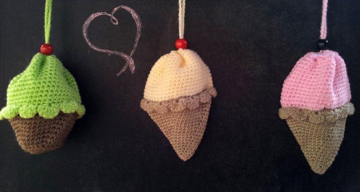 Crochet Ice-cream Cone Purse Cupcake (2)