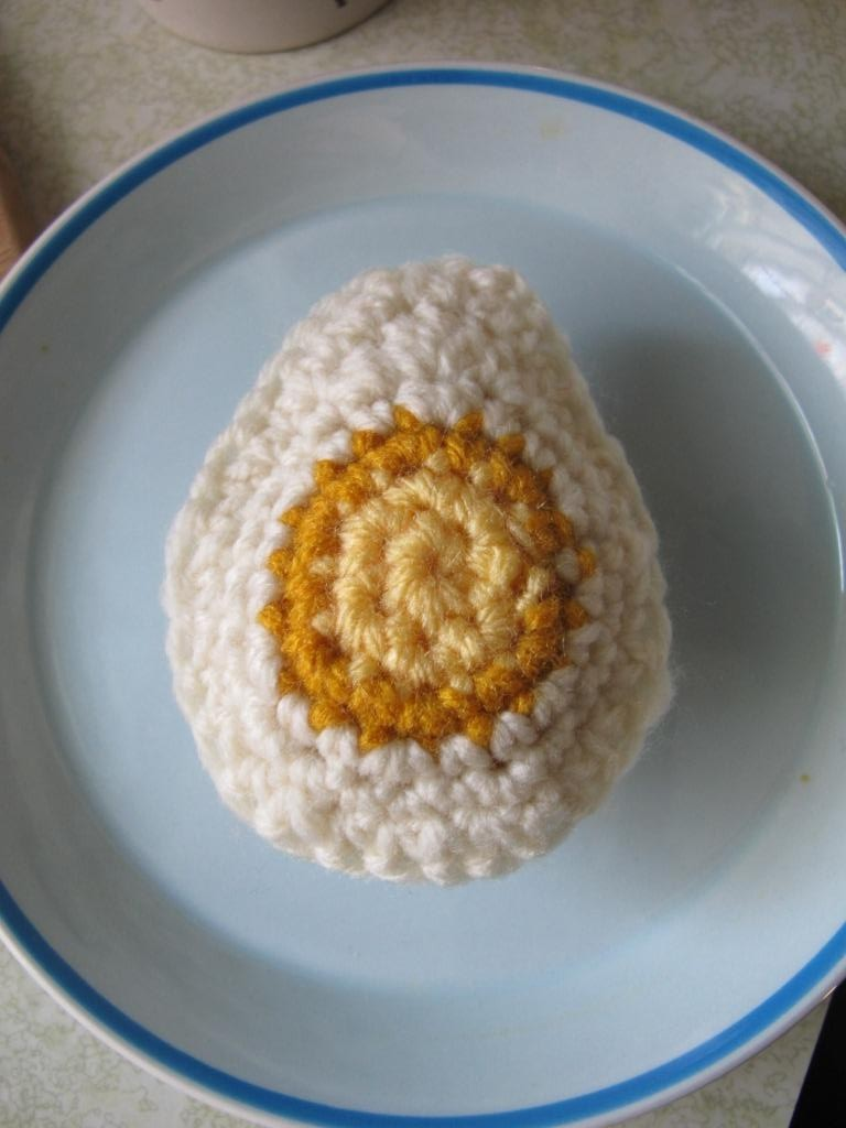 Crochet Boiled Egg Kathleen 4 Hard Boiled Crochet Egg Pattern