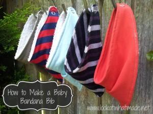How to Make a Baby Bandana Bib