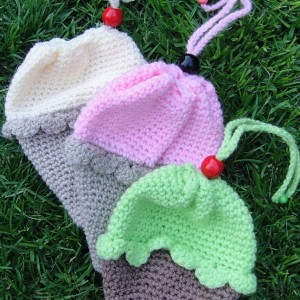 Crochet Ice-Cream Cone/Cupcake Bag Pattern