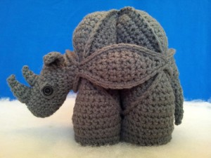 Gregor the Crochet Rhinosaur Puzzle