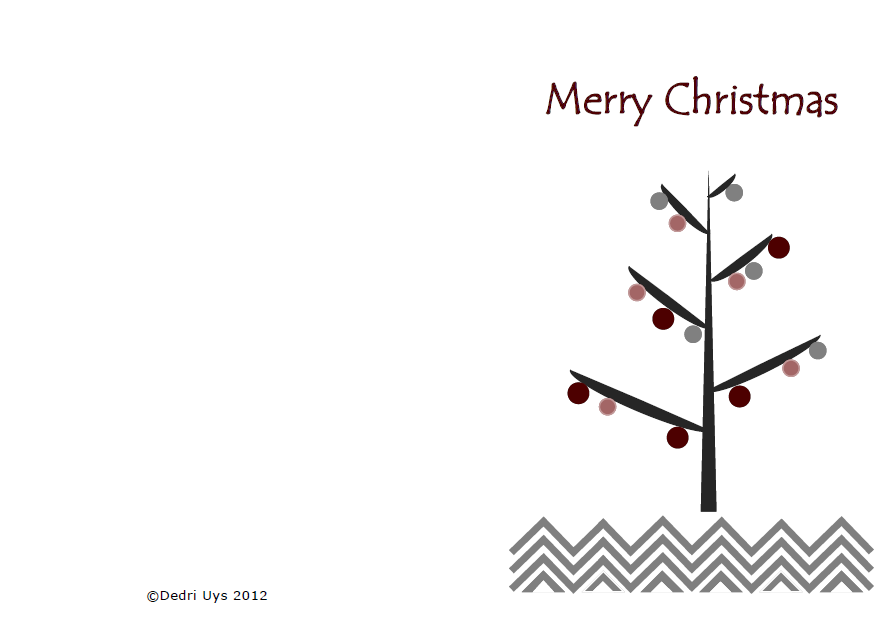 christmas card printable - Christmas Card Print Out