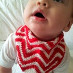Crochet Chevron Bandana Bib