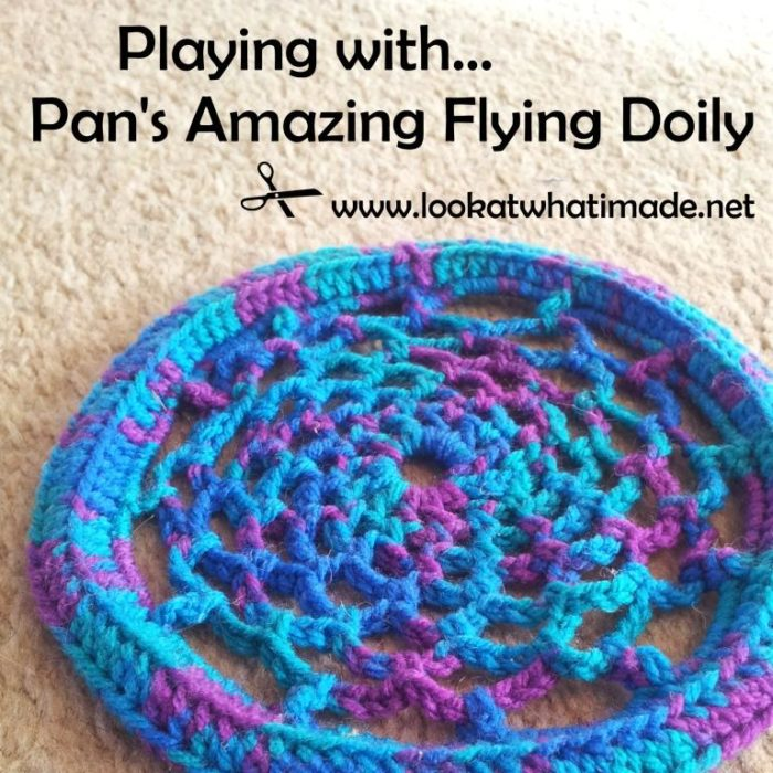 Amazing Flying Crochet Doily Frisbee