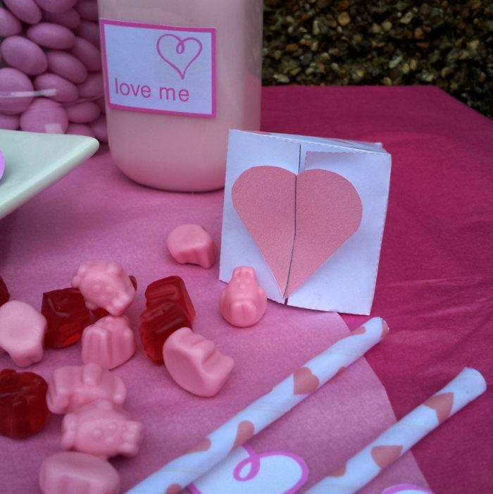 Valentine's Day Drinks Label Printable