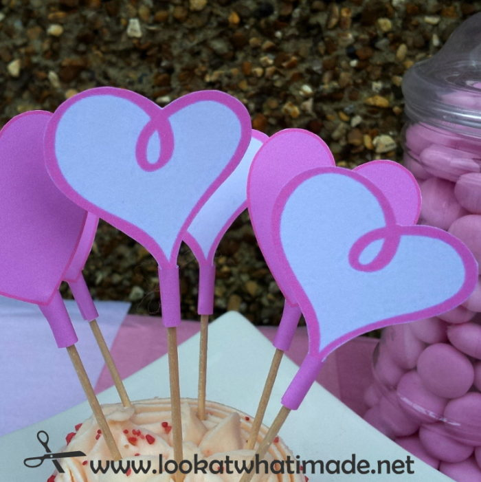 How to make Valentines Day Cupcake Topper Printables