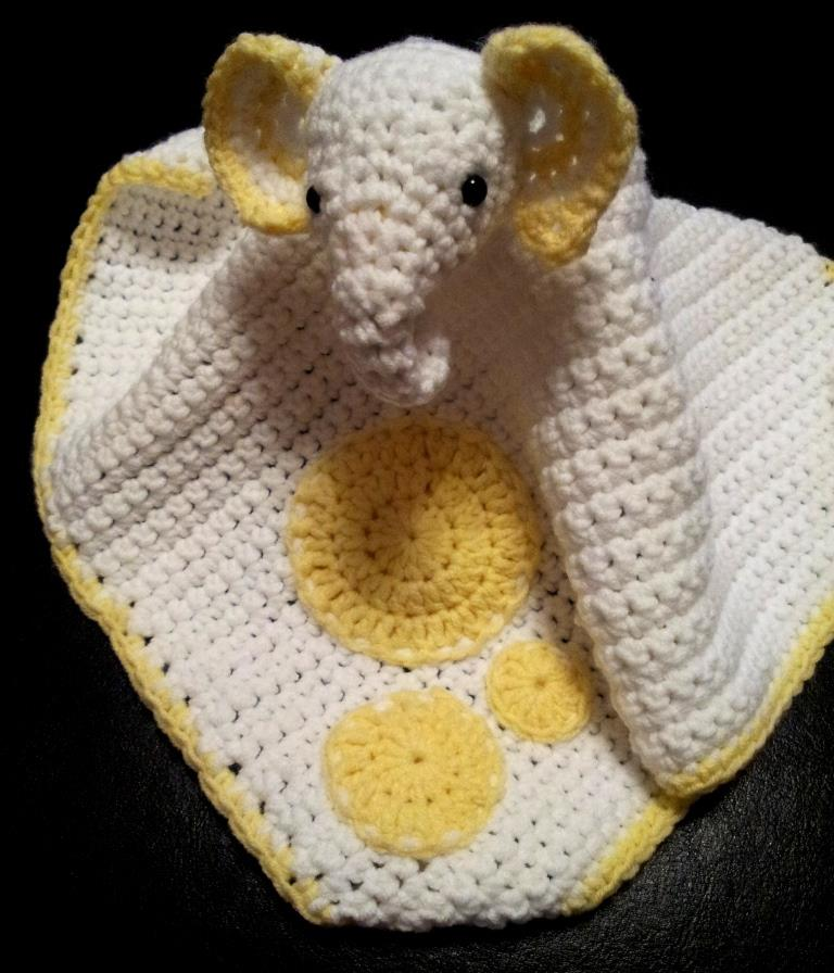 Grace Crochet Elephant Comfort Blanket Look At What I Made