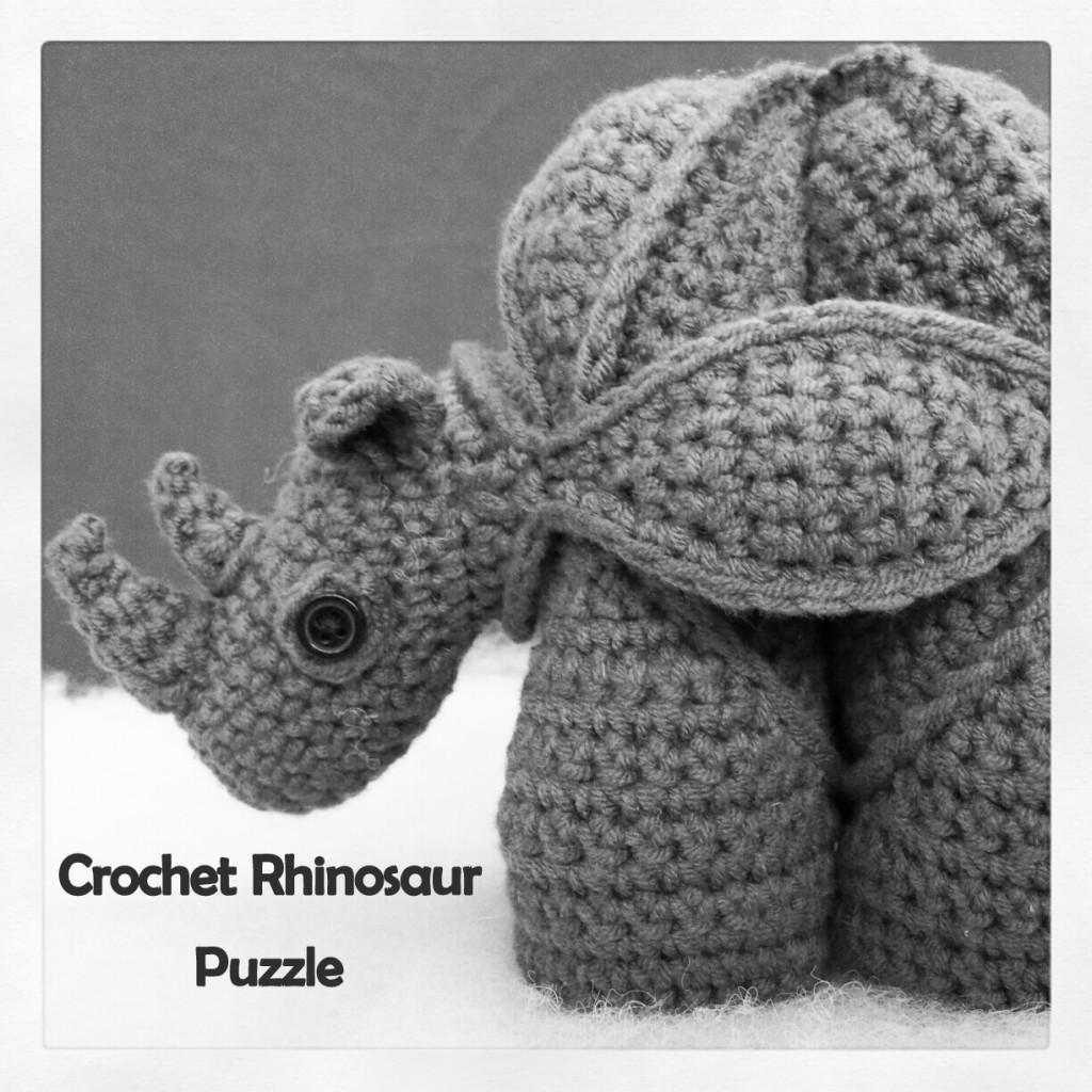 Gregor the Crochet Rhinosaur Puzzle Pattern Amamani