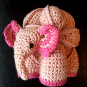Eleanor:  Crochet Elephant Amish Puzzle Ball