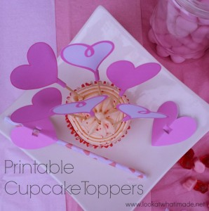Free Valentine's Day Cupcake Topper Printables