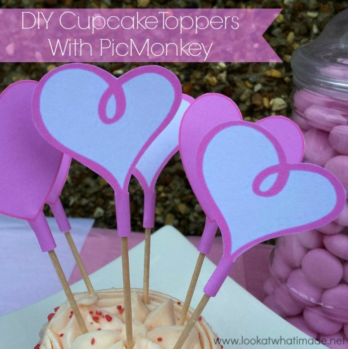 DIY Cupcake Topper Printables with PicMonkey
