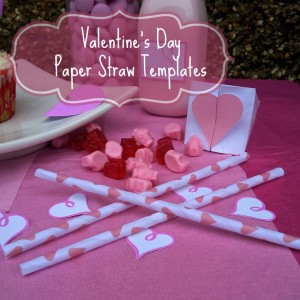 Valentine's Day Paper Straw Templates