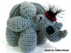 Ruby the Crochet Rhinosaur Puzzle