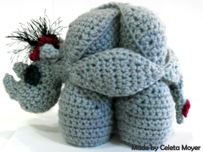 Rhinosaur Puzzle Crochet Bow and Fascinator