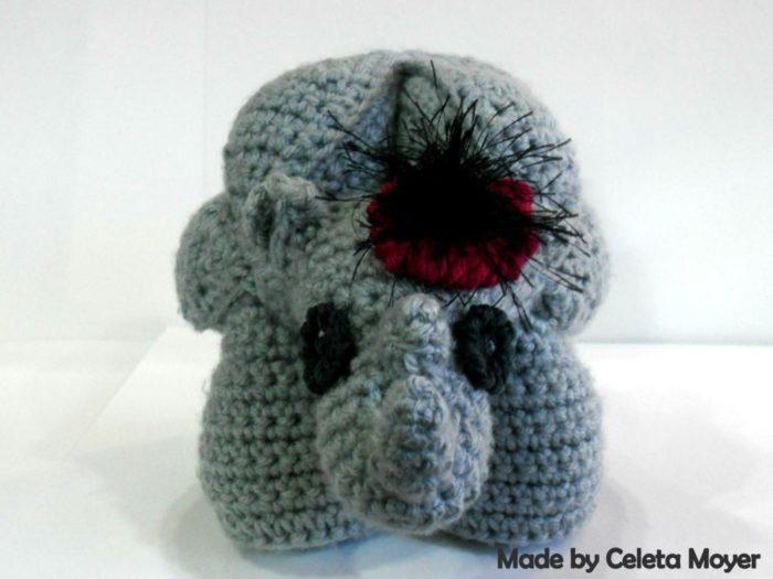 Rhinosaur Puzzle Crochet Fascinator