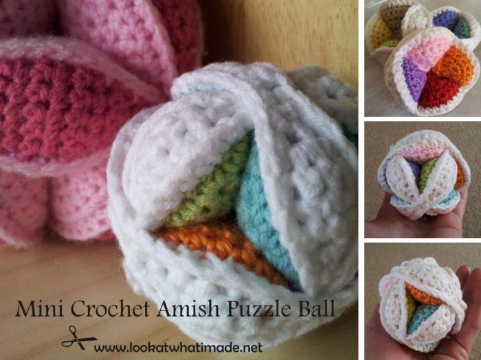 Mini Crochet Amish Puzzle Ball Pattern D Uys