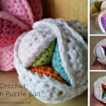 Mini Crochet Amish Puzzle Ball