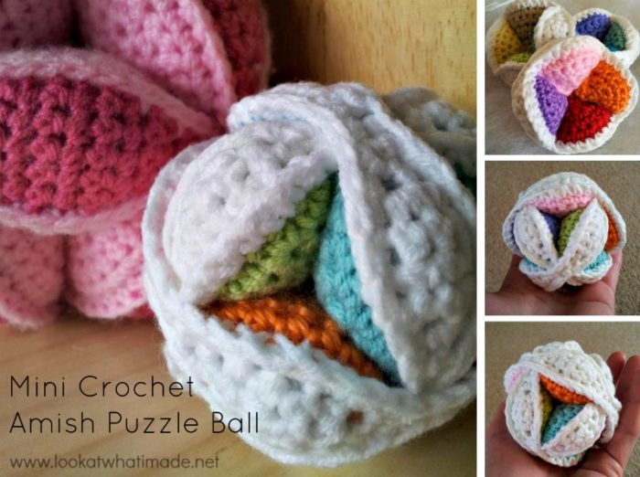 Mini Crochet Amish Puzzle Ball Pattern FREE