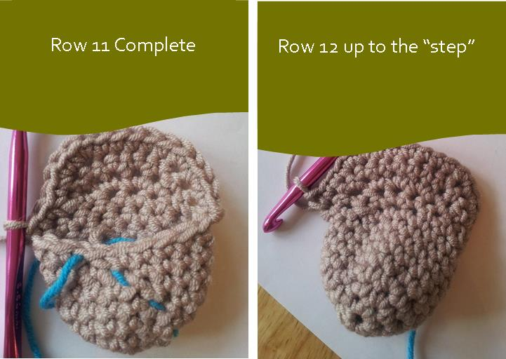 Crochet Short Rows Joining in the Round Running Stitch Marker