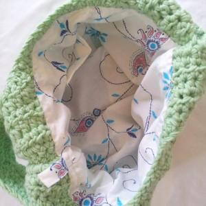 Crochet Stroller Bag: Optional Fabric Liner