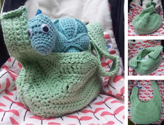 Crochet Stroller Bag Pattern - Look At What I Made
