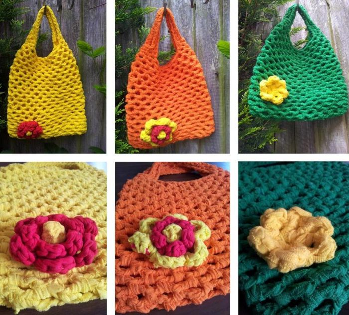 Easy Crochet Mesh Bag Pattern : Free Crochet Patterns and Tutorials ? Look At What I Made