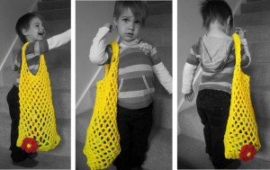 Crochet Mesh Bag from T-shirt Yarn