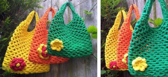 Crochet Mesh Bag Pattern for Beginners