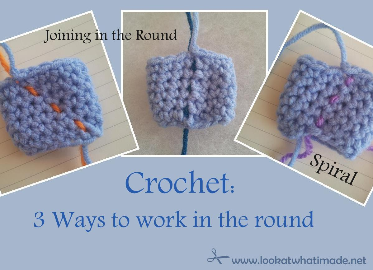 How to Crochet a Spiral Crochet in The Round Spiral vs
