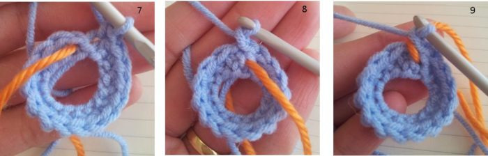Crochet in the round (method used for Amamani)
