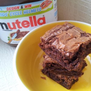 Amazing 3 Ingredient Nutella Brownies