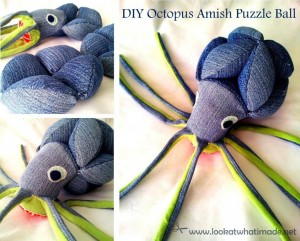 Oliver:  Octopus Amish Puzzle Ball Pattern