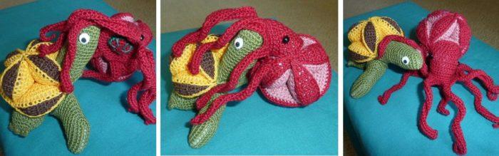 Amamani Crochet Turtle and Octopus